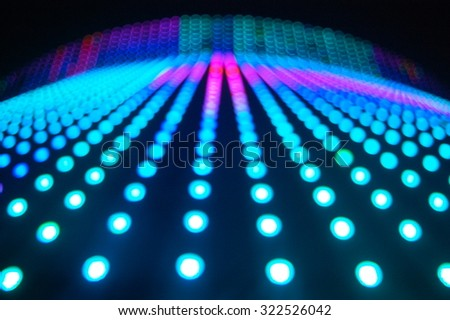 High building lighting effects