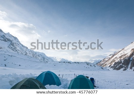 high camp on the mountain