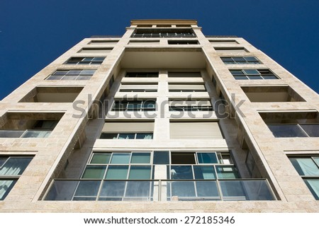 High construction building - stock photo