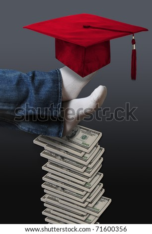 High Cost of Education. - stock photo