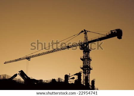 High Crane at sunset.