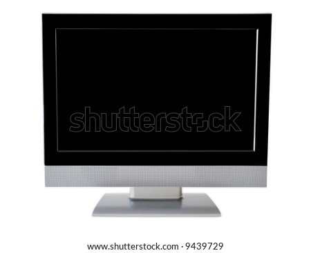 high definition flatscreen monitor/tv - isolated on white