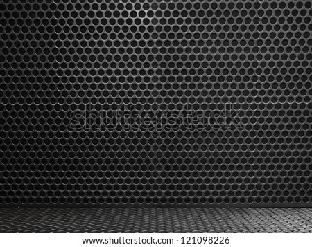 high definition metal wall texture - stock photo