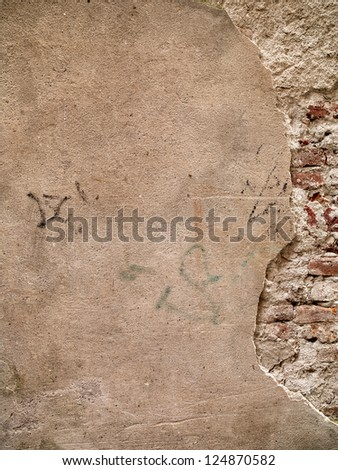 High definition photograph of a ancient worn wall - stock photo