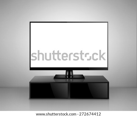 High Definition TV in a room  - stock photo
