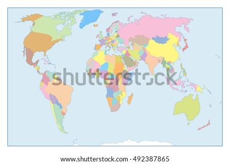 High detail world map all elements stock illustration 492387865 high detail world map all elements are separated in editable layers clearly labeled flat gumiabroncs Choice Image