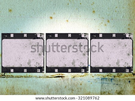 High detailed grunge film frame,border,background or texture with space for your text or image.
