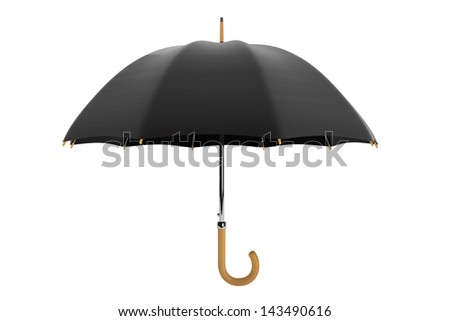 High Detailed Umbrella on a white background - stock photo
