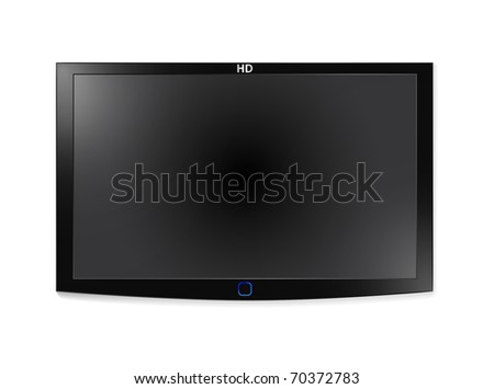 High-detailed vector illustration of plasma LCD TV. Look for vector version at my portfolio. - stock photo