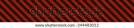 High details seamless painted metal hazard line  - stock photo