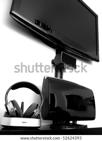 High end home cinema system - stock photo