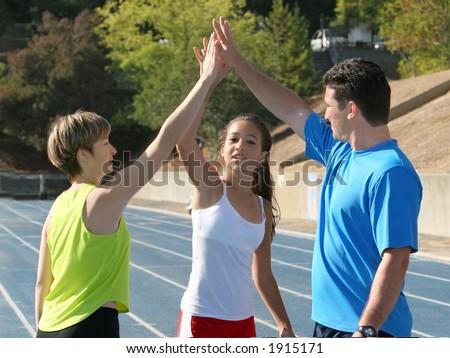 High five - stock photo