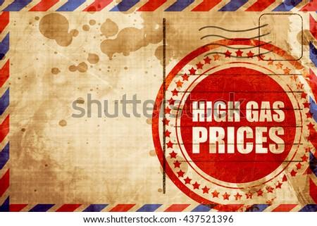 high gas prices - stock photo