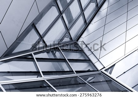 High glass facade - stock photo