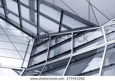 High glass facade - stock photo