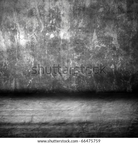 high grunge cement room - stock photo