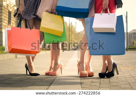 High heeled shoes - stock photo