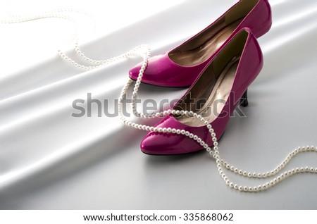 high-heeled shoes - stock photo