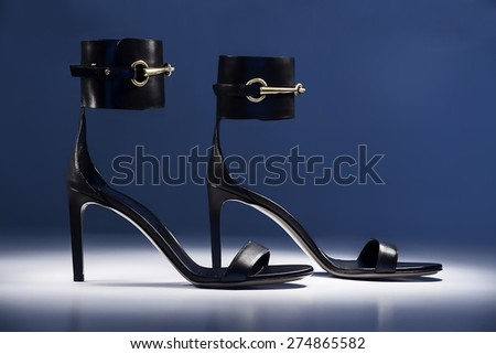 high heels shoes - stock photo