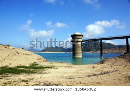 High Island Reservoir, the dam in hong kong, Sai Kung with the beautiful landscape - stock photo