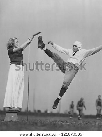 High kicks - stock photo