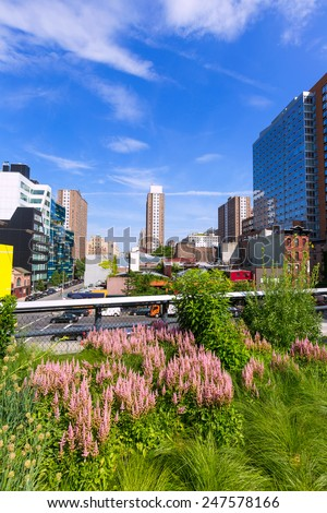 High Line Park Manhattan New York US America