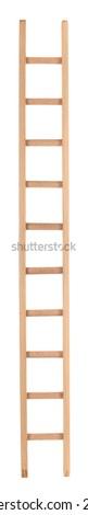 High long wooden ladder - stock photo