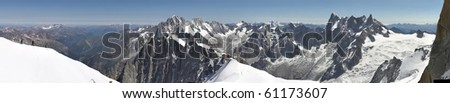 High mountain landscape -  Alps panorama - stock photo