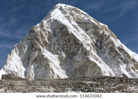 High mountains in cloud. Nepal. Everest. Mountains. - stock photo