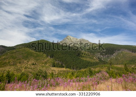 high mountains - Krivan, High Tatra, Slovakia - stock photo