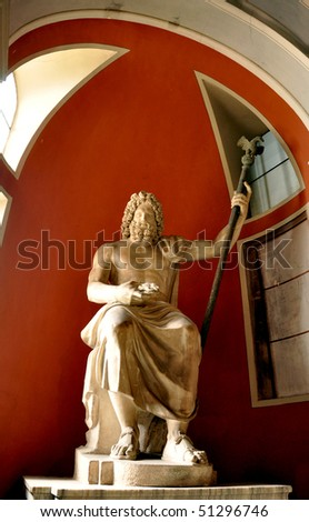 High Olympic god Zeus on throne - stock photo