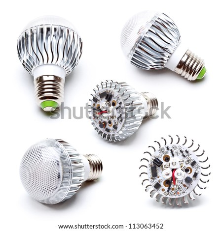 High power LED light bulb collection