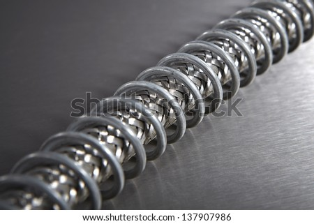 High Pressure Hose on Stainless Steel - stock photo