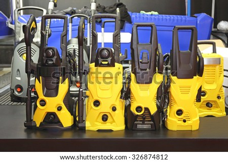 High Pressure Power Washer Cleaning Equipment - stock photo