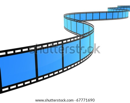 High quality filmstrip render. Great for cinema concept.