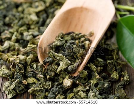 High Quality Green Tea closeup - stock photo