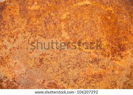 High quality grunge rusty metal texture. - stock photo