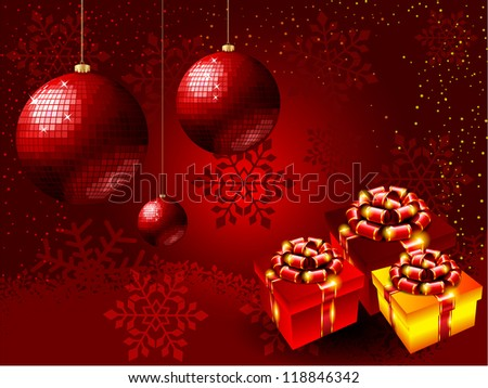 High-quality illustration for the New Year holidays./Christmas background - stock photo