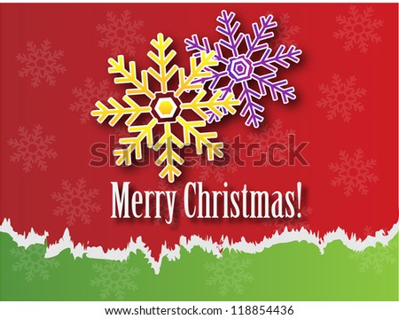 High-quality illustrator for the New Year holidays./Merry Christmas - stock photo