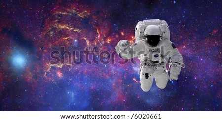 High quality isolated composite astronaut in space