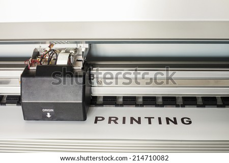 High quality outdoor ecosolvent printer - stock photo