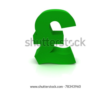 High Quality Pound Sterling Sign - stock photo