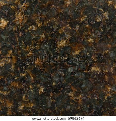 High Quality Sample of Black Granite - stock photo