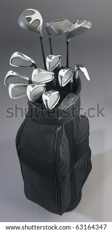 High quality studio photogrphy of golf equipment isolated on plain background - stock photo