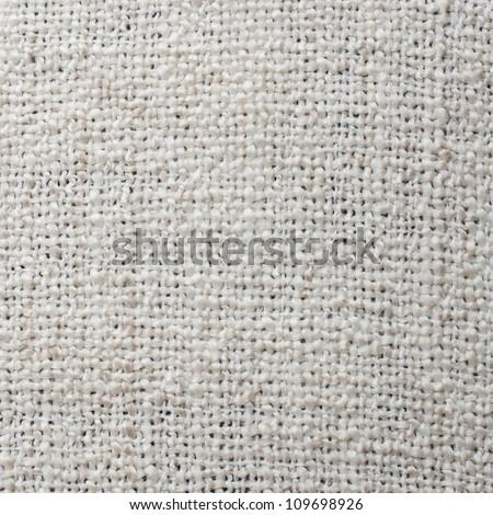 High Quality White Woven Texture, Background - stock photo