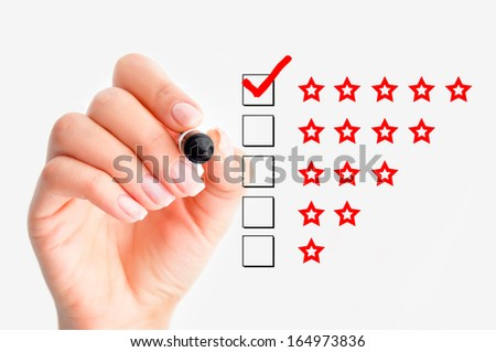 High rating concept - stock photo