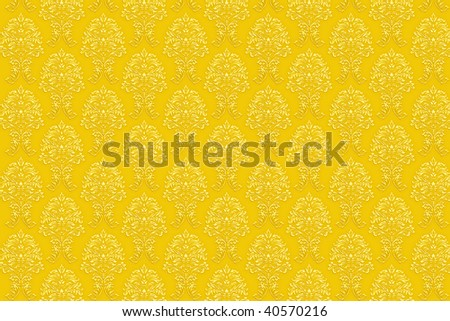 high resolution background wallpaper with fine detailed golden paint ornaments. easily tileable. - stock photo