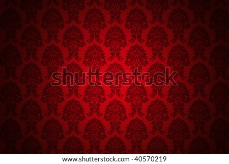 high resolution background wallpaper with fine detailed red ornaments - stock photo