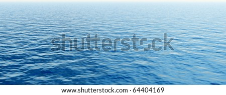 High resolution blue water - stock photo