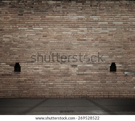 high resolution  brick wall and floor
